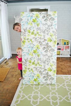 DIY Headboard: The Headboard Adventures, Part 2 (part one, link on page, explains making the frame) | Young House Love