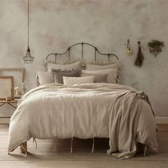 Bed Bath and Beyond. I love the bedding colors to match the new furniture! Beige and grey.