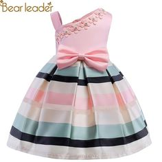 Bear Leader Girls Dresses 2018 New Girls Pearl Flower Party Sleeveless Dress Strap Stripe Princess Bow Dress For 3-8 Years  #workout #jogging #womens #getfit #yoga #stayfit #pilates #activewear
