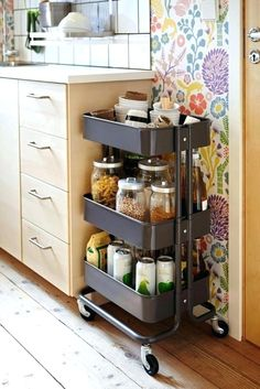 I love IKEA! Their units seem to be asking to hack them, and today I'd like to share some ideas for IKEA Raskog kitchen cart and ways to use it. Raskog Ikea, Kitchen Decor, Kitchen Design, Kitchen Pantry, Kitchen Ideas, Kitchen Hacks, Kitchen Cabinets, Kitchen Small, Organized Kitchen