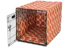 Loving this modern dog product from 3 Shades of Dog.  Kratos Spice Crate Cover Set  Use code springclean15 to get 15% off!!