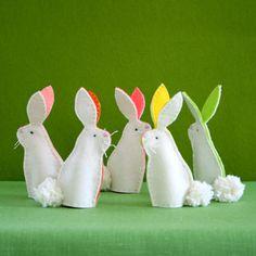 Purl Soho bunny finger puppet craft kits.