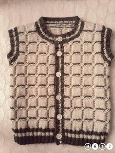 Cross Knit Sweater – Fatma Yaşar – Join the world of pin Kids Knitting Patterns, Knitting For Kids, Knitting Designs, Knitted Baby Cardigan, Knit Baby Sweaters, Knitted Hats, Crochet For Boys, Crochet Baby, Jacket Pattern