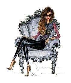 Grabado de la ilustración de la moda descansar 8 x 10 por p