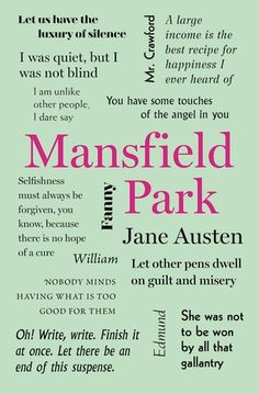 Word Cloud Classics edition of Mansfield Park by Jane Austen
