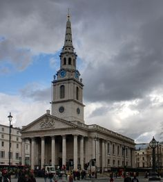 St Martins in the Field, London, England. There has been a church on the site since the medieval period. The present building was constructed in a Neoclassical design by James Gibbs in 1722–1724.