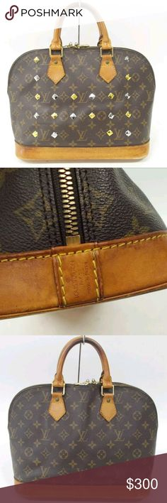 Custom Louis Vuitton Alma Handbag Louis Vuitton Alma original cutom stud handbag great condition Louis Vuitton Bags