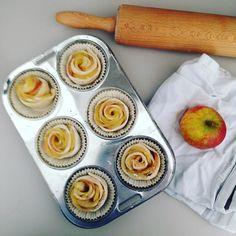 #Apfel #Rosen - bin gespannt wie die aus dem Ofen kommen.