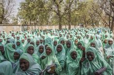 Hundreds of schoolgirls leave the Women's Teachers College Secondary School in Maiduguri, Nigeria. Thousands of girls in the north have been abducted and forced into marriage by Boko Haram. (Jane Hahn/For The Washington Post) Teachers College, Boko Haram, 10 Month Olds, World Economic Forum, Isn, Secondary School, The Washington Post, Equality, Dolores Park