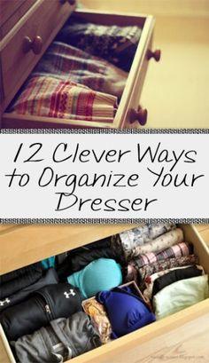 Small clothes closet organization diy drawers Ideas for 2019 Organisation Hacks, Organizing Hacks, Dresser Organization, Small Closet Organization, Storage Hacks, Diy Storage, Hacks Diy, Clothing Organization, Organize Dresser