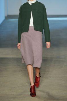 Derek Lam|Wool-blend bouclé A-line skirt