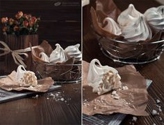 Meringues and dry roses