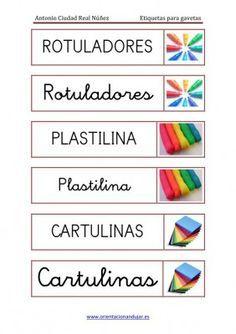 Ordenamos nuestras clases etiquetas para Gavetas y clasificadores editables - Orientacion Andujar