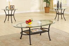 3-piece Simple and Modern Coffee Table & End Tables Set