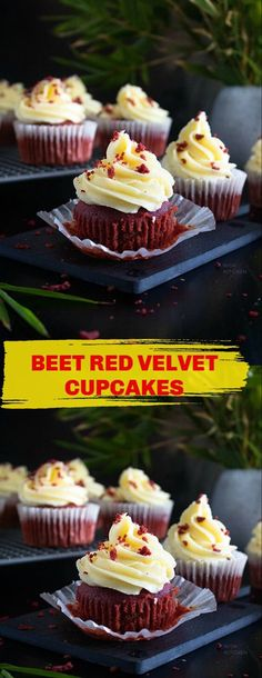 Red Velvet Cupcakes, Mini Cupcakes, Cupcake Videos, Beetroot, Kitchen Recipes, Beets, Vegetarian Recipes, Good Food, Brunch