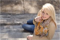 senior portrait pose, laying on stairs #seniors #photography