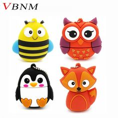 Cheap u disk, Buy Quality usb flash drive pendrive directly from China cartoon usb Suppliers: VBNM cute penguin owl fox pen drive cartoon usb flash drive pendrive U disk animal memory stick gift