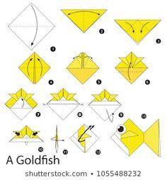 Portfolio stock fotek a snímků od přispěvatele tofang Mobil Origami, Origami Mobile, Kids Origami, How To Make Origami, Origami Patterns, Diy And Crafts, Paper Crafts, Dark Art Drawings, Origami Flowers