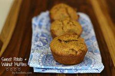 sweet potato walnut muffins