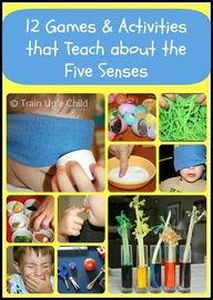 12 Games and Activities to Teach Children about the Five Senses - Hands on ways for children to explore their senses through play!
