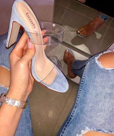 blue, heels, and luxury image