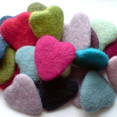 Wool Felt Hearts - bjl