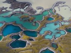 Volcanic lakes punctuate an Icelandic landscape seen from above in this National Geographic Photo of the Day. of the day national geographic Volcanic Lakes Image, Iceland - National Geographic Photo of the Day Photography Awards, Aerial Photography, Amazing Photography, Nature Photography, National Geographic Photographers, National Geographic Photos, Art Abstrait, Patterns In Nature, Birds Eye View