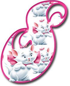 Alfabeto de los Aristogatos. | Oh my Alfabetos! Childrens Alphabet, Cute Alphabet, Monogram Alphabet, Alphabet And Numbers, Alfabeto Animal, Gata Marie, Marie Aristocats, Cute Drawings, Hello Kitty
