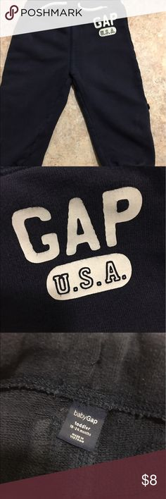 Gap joggers EUC in navy.  They roll up with button as well. GAP Bottoms Sweatpants & Joggers