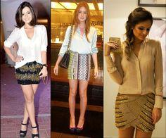 Artistas e blogueiras famosas usam sempre a combinação perfeita de blusa e saia!