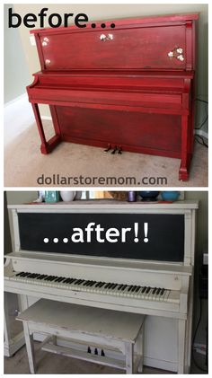 painting a piano - before & after - with Annie sloan chalk paint, with tips