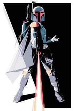 Star Wars 'Proto Fett' and 'Empire Fett' Art by Craig Drake Star Wars Saga, Star Wars Rebels, Star Trek, Boba Fett Art, Star Wars Boba Fett, Jango Fett, Star Wars Collection, Geeks, Chasseur De Primes