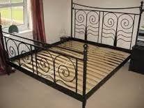 Image result for black ikea king size metal bed