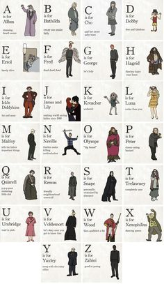 Harry Potter alphabet :)
