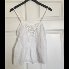 Lilu Tank Top White Lilu tank top. Beautiful front design. Adjustable straps. Lilu Tops Tank Tops