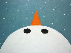 Catching Snowflakes Original Acrylic Painting by by JamiesArt, $45.00