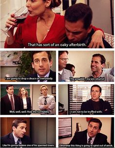 Michael and his sayings The Office