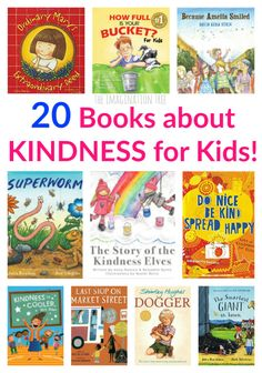 Here are 20 of the very best books about kindness for kids! Absolutely perfect for teaching the most important lessons in life about values, character development and showing empathy towards… Kindness For Kids, Books About Kindness, Teaching Kindness, Teaching Social Skills, Social Emotional Learning, Imagination Tree, Preschool Books, Chapter Books, Kids Reading