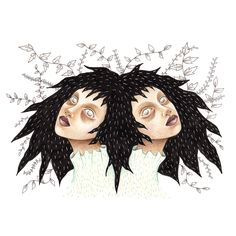 This piece is an original. It is a drawing made with colour pencils, ink and white pen on paper, the size is It will be sent in a plastic folder. Pencil Illustration, Twinkle Twinkle, Dark Art, Art Blog, Creepy, Twins, Etsy, The Originals, Halloween