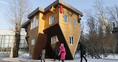 An upside down house really exists and it's at The All Russia Exhibition Show in Moscow. With enough creativity, you can really blow people's minds!