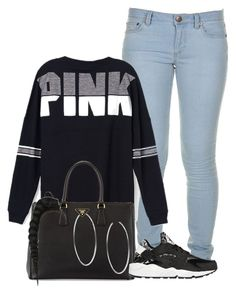""""" by bvsedg0d ❤ liked on Polyvore featuring Marc by Marc Jacobs, Victoria's Secret PINK, Prada, NIKE and Michael Kors"