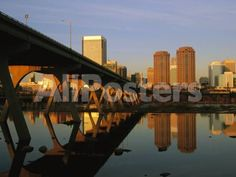 The Richmond, Virginia Skyline at Twilight by Medford Taylor Landscapes Photographic Print - 41 x 30 cm