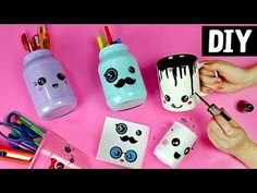 DIY Prateleira de papelão, Lousa e +  Decorando Cantinho de Estudo ou Home Office | AdsiveShop - YouTube