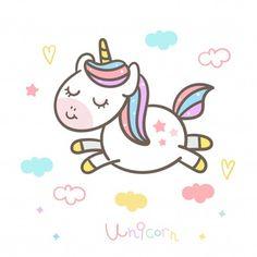 Vivid8 | Freepik Doodles Kawaii, Cute Kawaii Drawings, Unicorn Wallpaper Cute, Unicornios Wallpaper, Unicorn Painting, Unicorn Illustration, Unicorn Pictures, Diy Tassel, Mlp My Little Pony