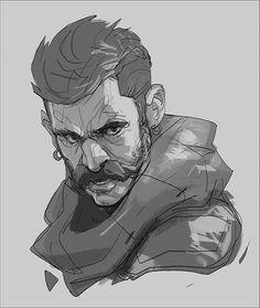 Facial Animation and sketches, Hicham Habchi on ArtStation at https://www.artstation.com/artwork/xN8km