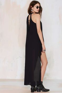 Blew Through It High/Low Maxi Top - Black | Shop Clothes at Nasty Gal!
