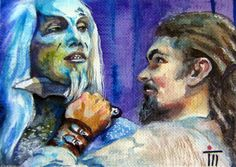 """""""Stargate Atlantis,Ronon Dex. Original ACEO painting. Jason Momoa"""". I am a professional artist, studying at the National Academy of Art in Bulgaria, speciality painting. I have participated in many international competitions and exhibitions.   eBay!"""