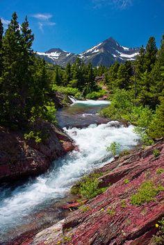 Swiftcurrent Creek, Glacier National Park, Montana; photo by Troy Smith