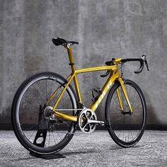 A blast from the past with an amazing gold metallic update.  @clarencestcyclery #iRideENVE #iRideENVE #ENVEComposites #Cycling #CarbonWheels #MountainBike #HandbuiltBikes #BikePorn