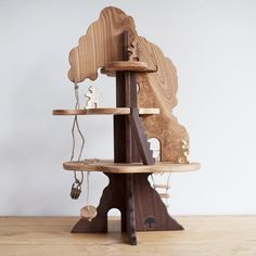 Wooden Tree House Toy from Bella Luna